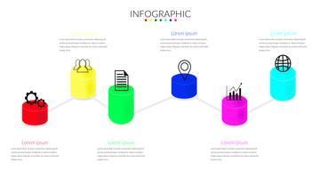 Plantilla de diseño infográfico Podium