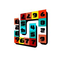 Number game logo vector