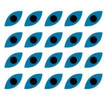 Muster der blauen schwarzen Augen vektor