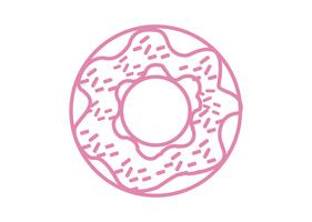 Roze donut pictogram