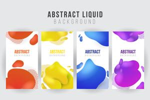 Abstract liquid banner background template. vector illustration