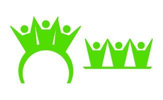 Equipo personas logo verde