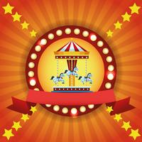 Circus fair festival colorful emblem