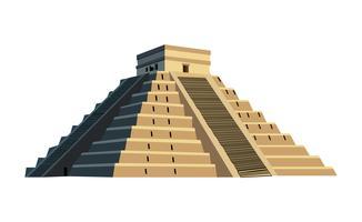 Ilustración de la pirámide maya vector