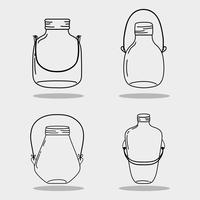 set jar mason glass with different shapes vector