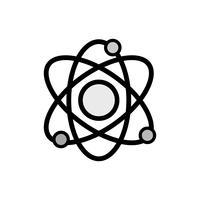 la fisica in scala di grigi orbita attorno all'atomo per l'educazione chimica
