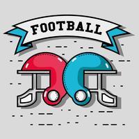 caschi da football americano con messaggio a nastro