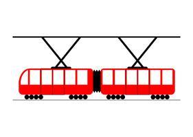 Vector de tranvía rojo