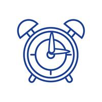 silhouette round clock alarm object design