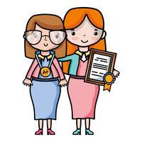 lärare med lektionsstudent