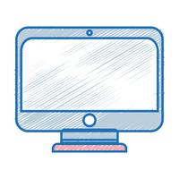 monitor screen technology with electronic equipment vector