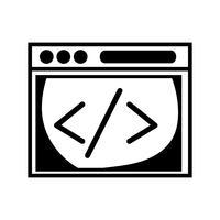 Kontur Website-Element-Technologie zur Suche Seite