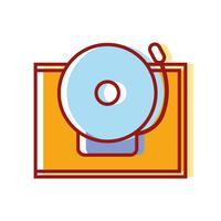 campana de la escuela de diseño de objetos de alerta vector