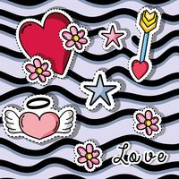 patches design with valentines day symbol of love