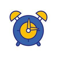 reloj redondo objeto de alarma de diseño vector