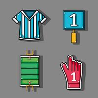 set amercan football elements to competition vector
