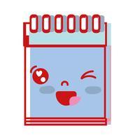 kawaii bonito ferramenta de caderno engraçado