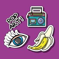 Set Mode Pop-Art-Patches Design