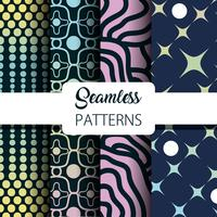 set abstract seamless graphic background decoration