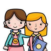 professor com aluno para aula de educação de classe