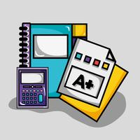 school utensil design to study and learn vector