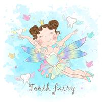 Tooth fairy watercolor