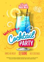 Party poster in eclectic modern style