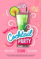Cocktail party poster in eclectic modern style