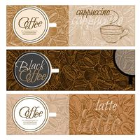 Horizontal coffee banners