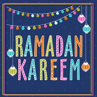 Colorful Ramadan Kareem Image