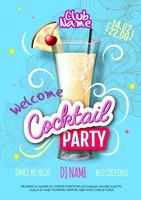 Realistic cocktail party poster in eclectic modern style