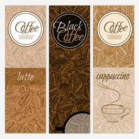 Banners verticales de cafe