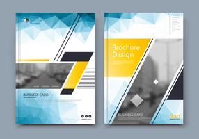 Brochure cover met gele driehoek figuur