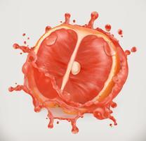 Salpicaduras de pomelo y jugo
