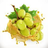 Jugo de uva. Fruta fresca