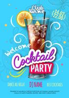 Poster realistico per cocktail party