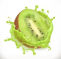 Kiwi fruit juice splash