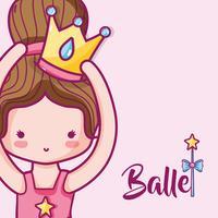chica practica ballet a preformador elegante