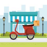 ícone de serviço de entrega de motocicleta