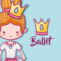 menina praticar balé para preformer elegante