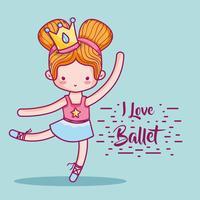 flicka öva balett till elegant preformer