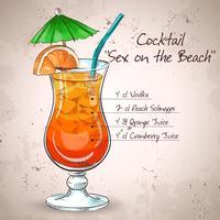 Bebida mezclada de sexo en la playa