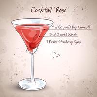 Cóctel alcohólico rosa