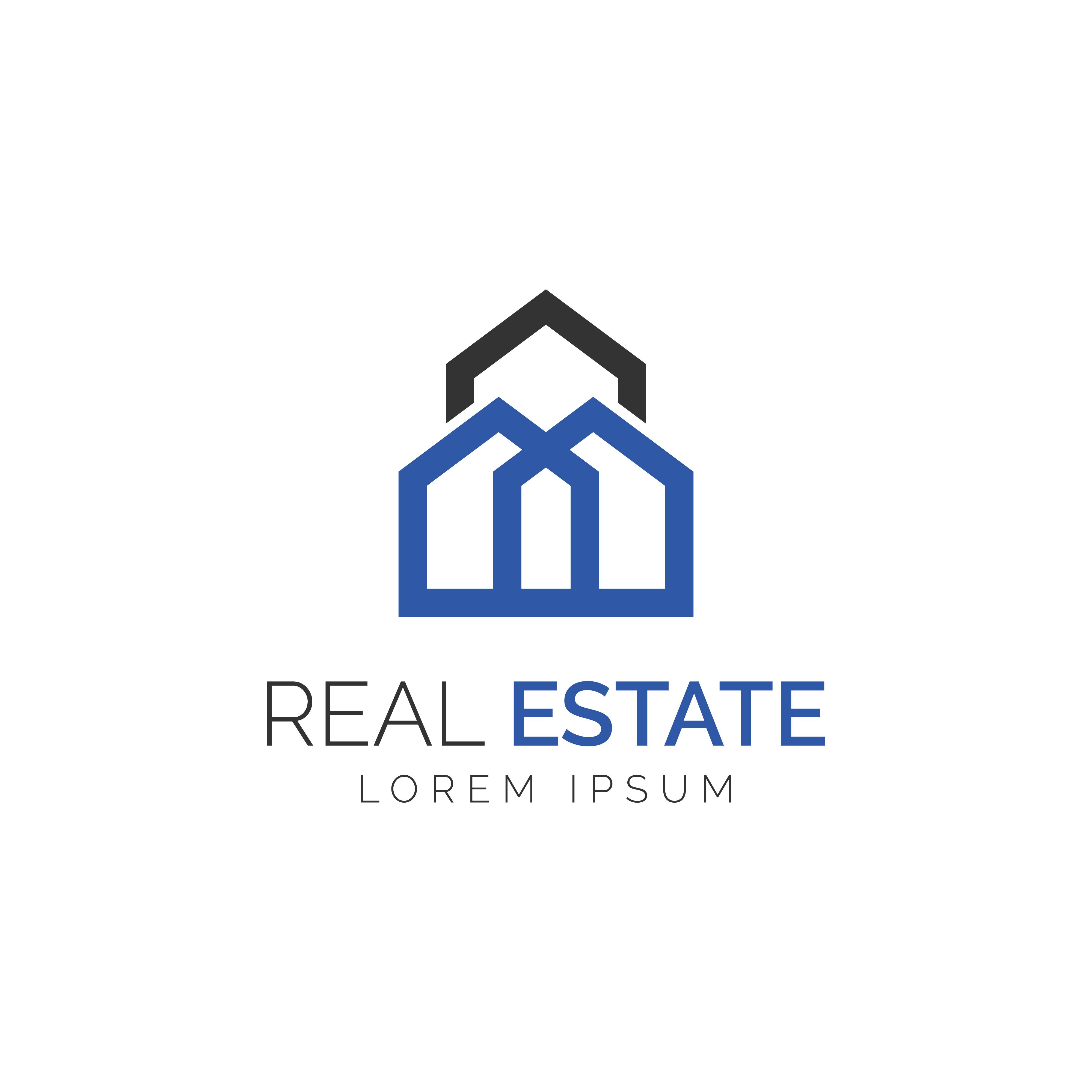 Simple Monogram Real Estate Logo Download Free Vectors Clipart Graphics Vector Art