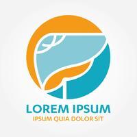 Liver Organ Hepatology Logo  vector