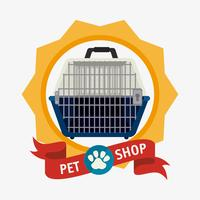 Pet shop design. vector