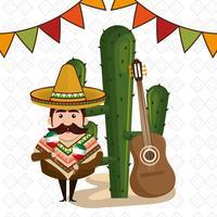 músico mexicano vector