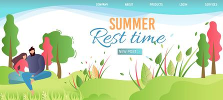 Landing Page Advertises Summer Rest Time on Nature