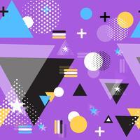 Vector geometrische illustratie vlakke vorm patroon