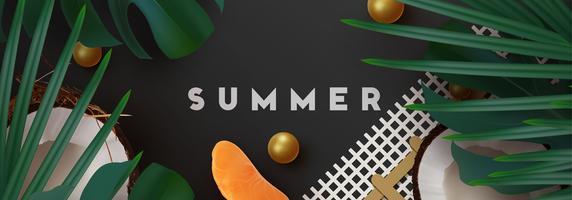 Fundo tropical de verão